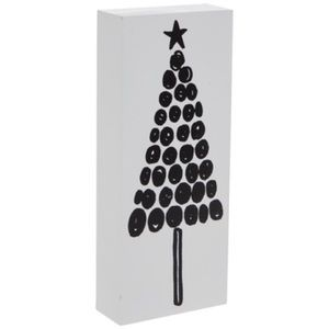 Other - White and Black Polka Dot Tree Wood Decor NWT